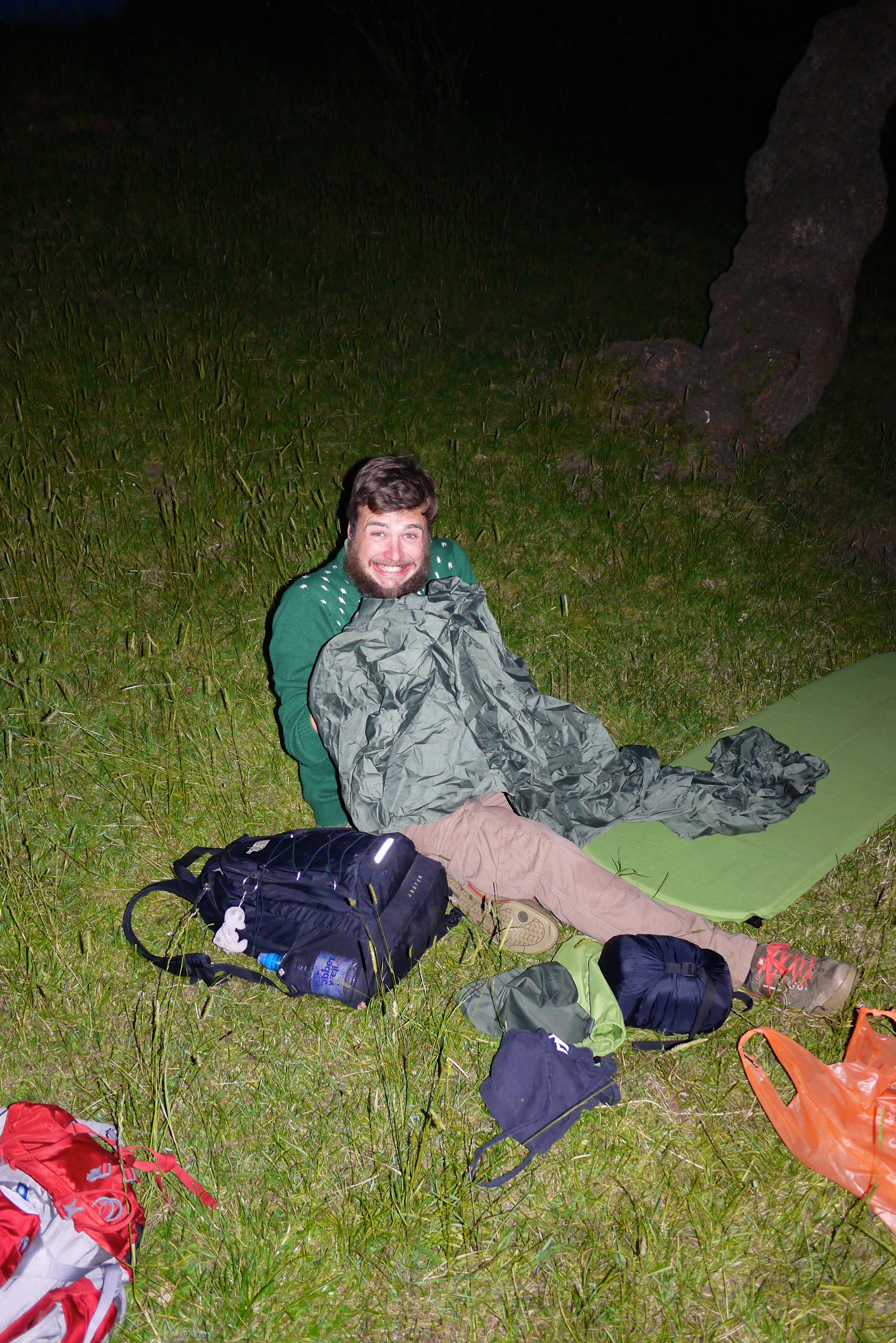 Rich gets very excited about popping his microadventure cherry