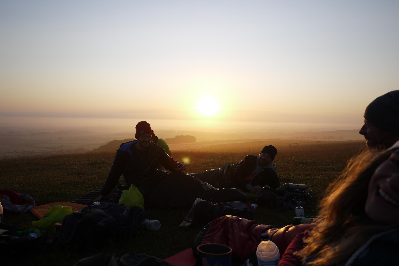 Sunrise over Uffington, Oxfordshire
