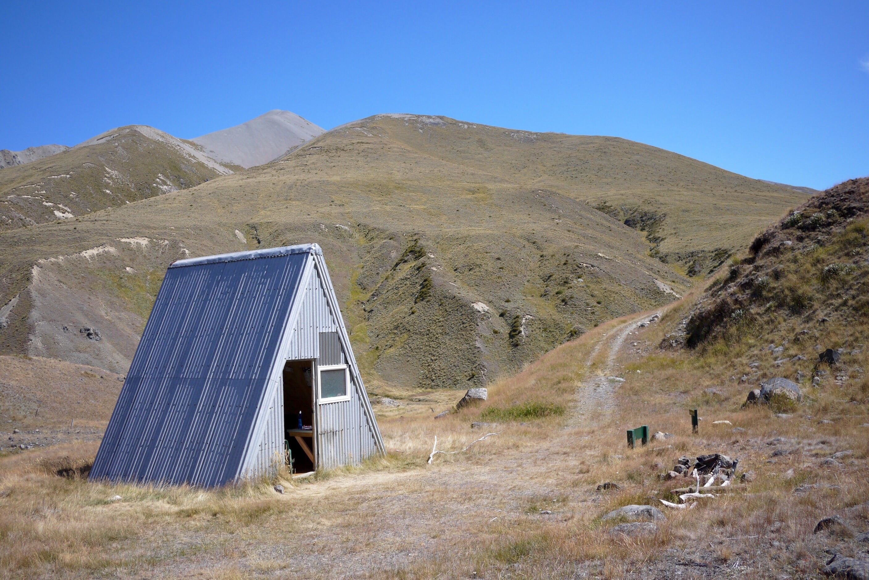A Frame Hut, Rakaia river valley