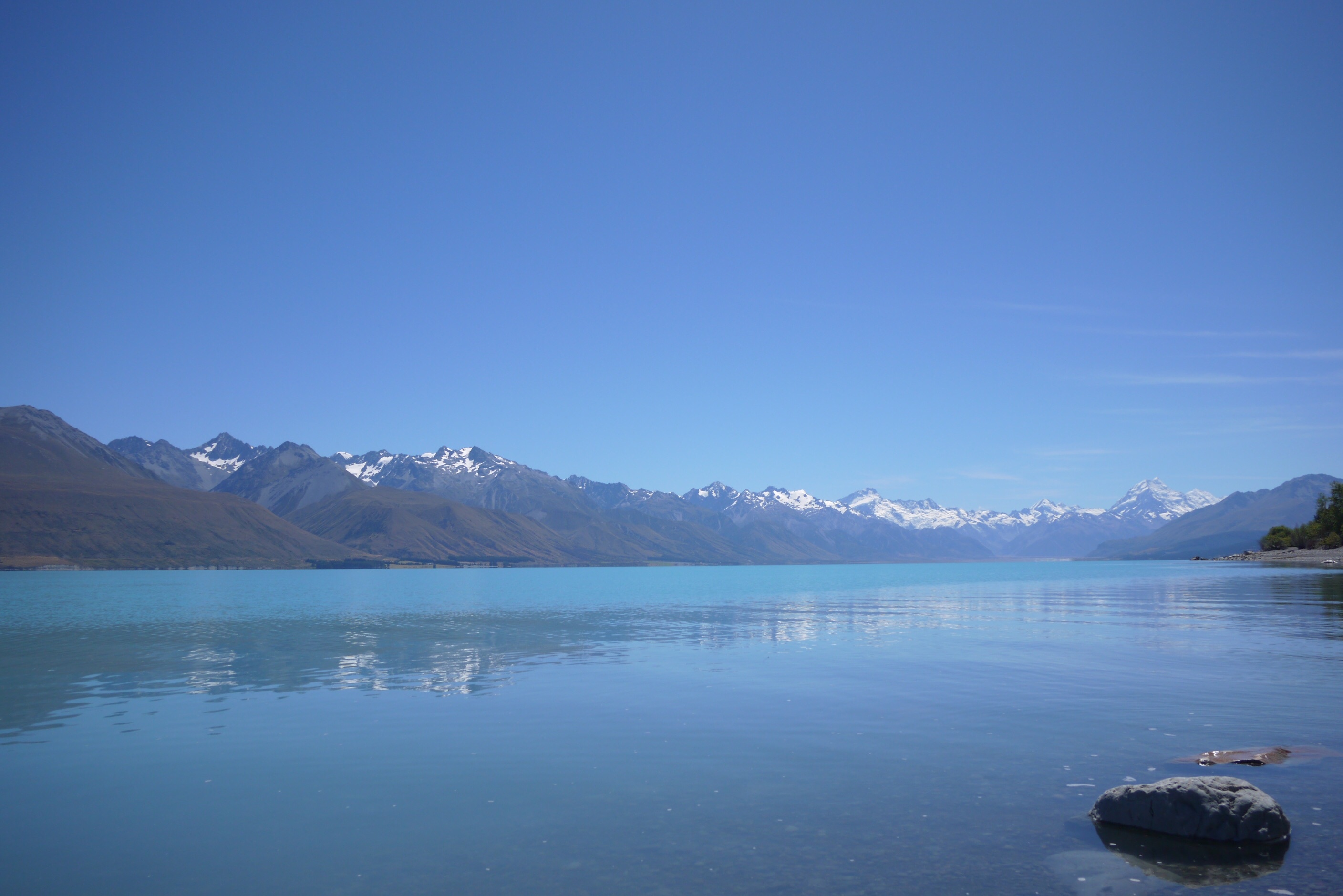 Lake Pukaki - not a bad place to run a marathon