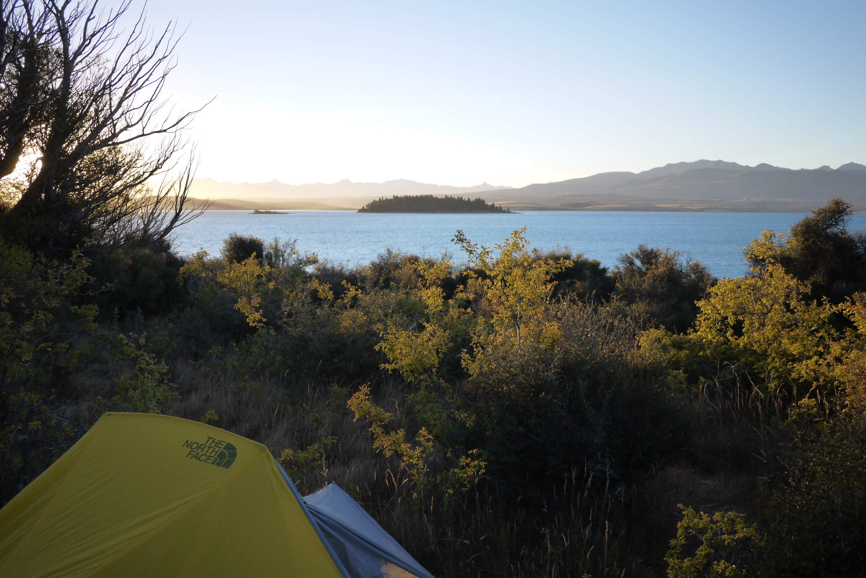 Camped on the shores of Lake Tekapo