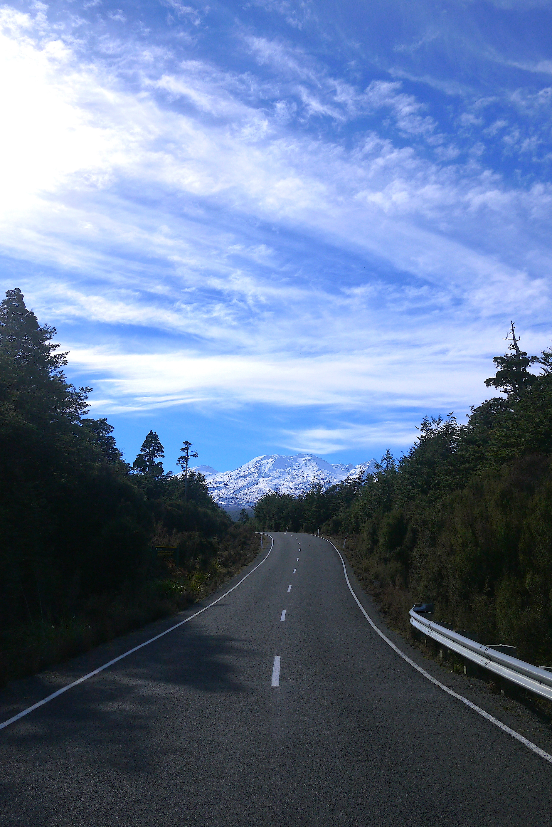 The longest paved road ascent in NZ: Ohakune Mountain Road